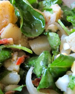 Potato and spiach salad